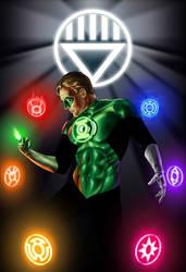 Green Lantern Blackest Night by OzWonderland