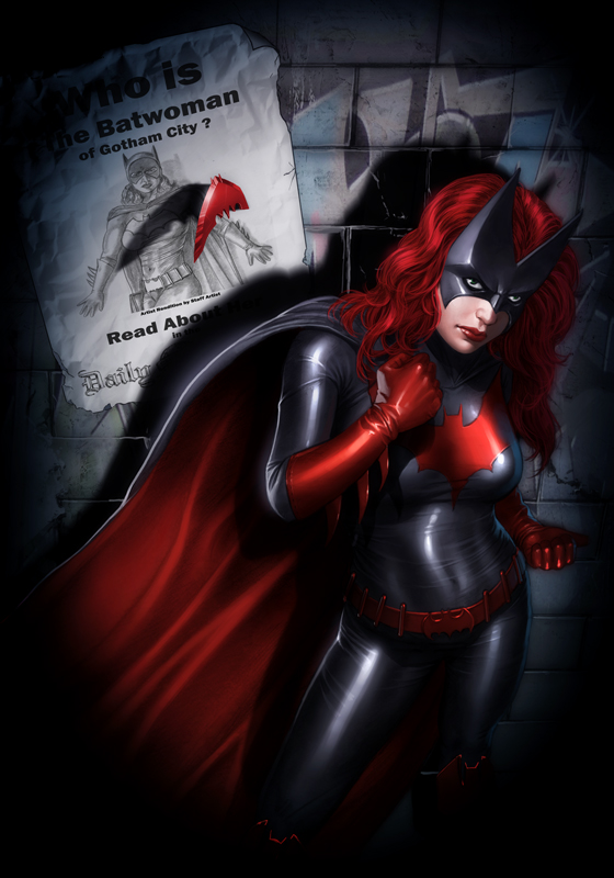 Batwoman Print- New Version by OzWonderland
