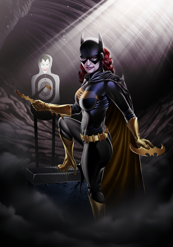 Batgirl Print Black/Gold by OzWonderland