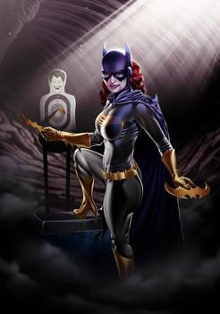 Batgirl Print Blue/Gray