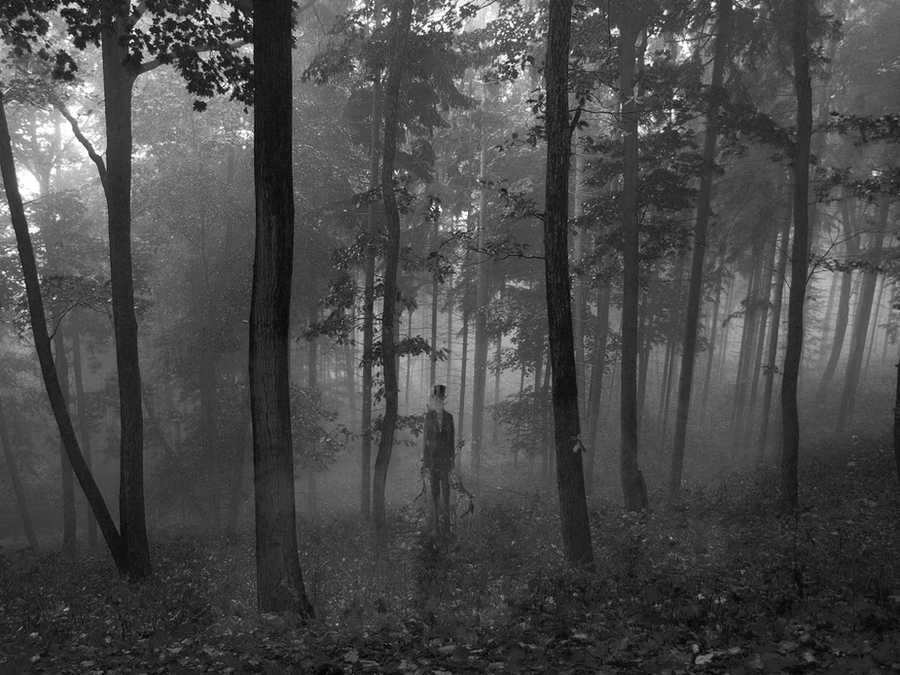 how to draw slender forest