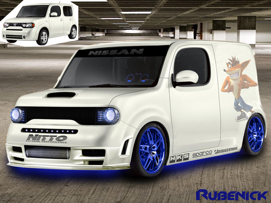 virtual tuning nissan cube by rubenick on deviantart. Black Bedroom Furniture Sets. Home Design Ideas