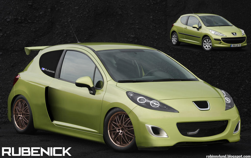 virtual tuning peugeot 207 by rubenick on deviantart. Black Bedroom Furniture Sets. Home Design Ideas
