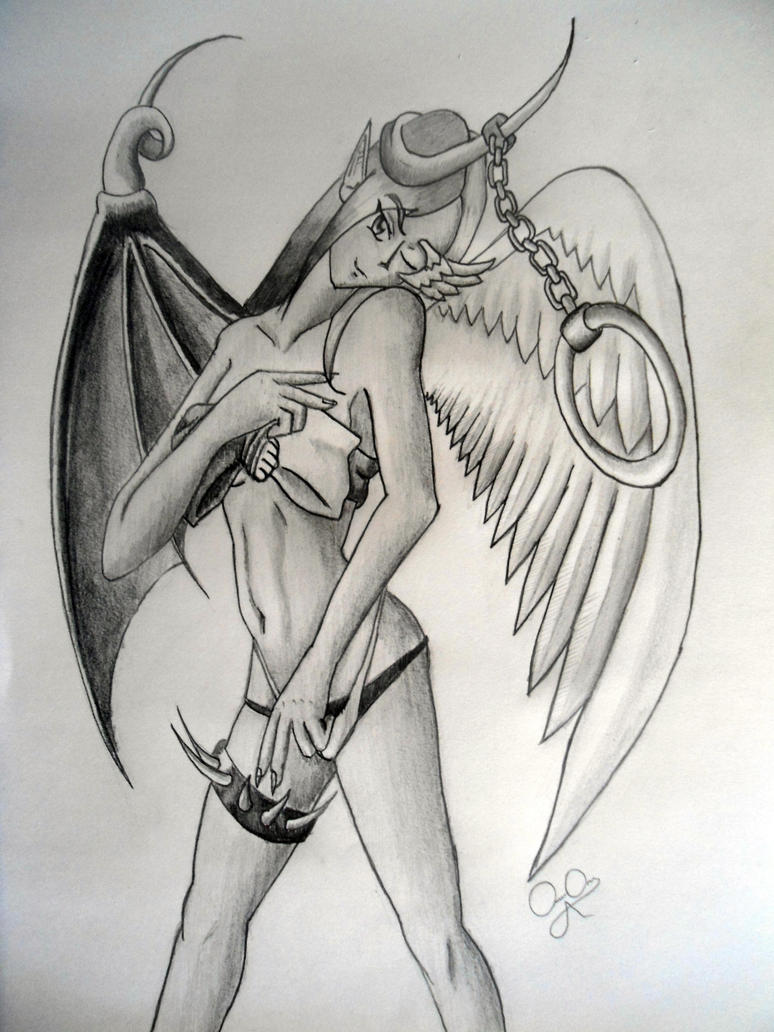 Demon drawing girl nude nsfw gallery