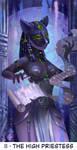 tarot card - II THE High priestess by lernotarot