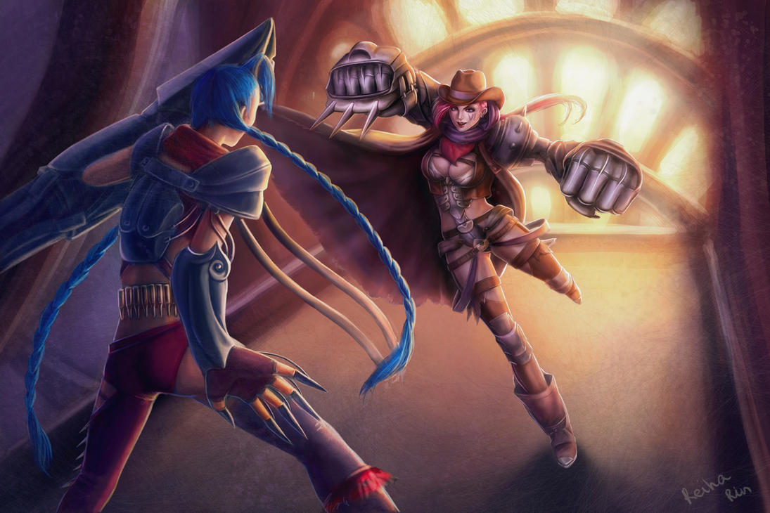 Vi and Jinx by ReihaRin