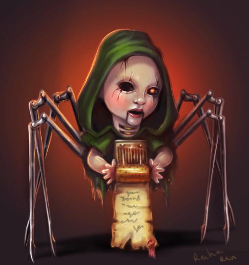 creepy doll) by ReihaRin