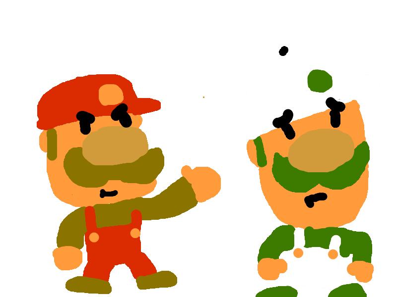 bit Mario kills Luigi