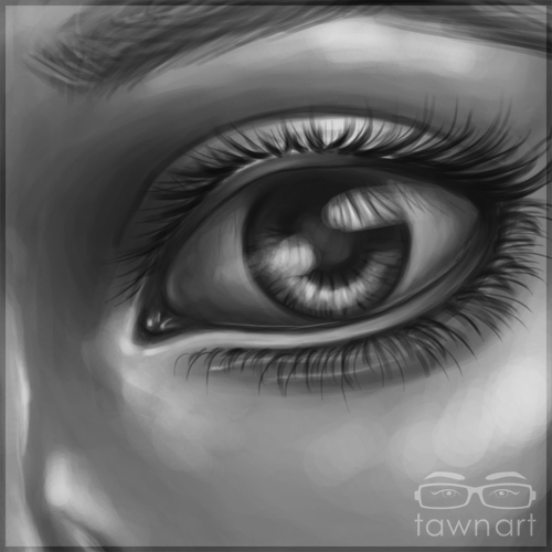 Eye Practice by TawnART