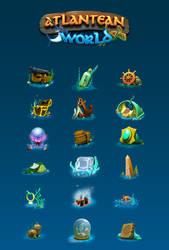 Atlantean-items-logo by RothSteady