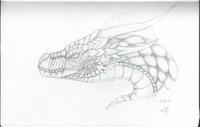 Zentangle dragon head