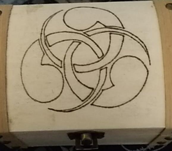 Pyrographied Case by Envorenn