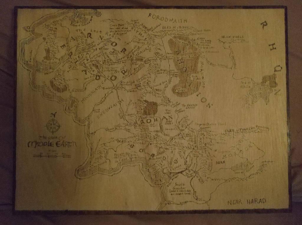Middle Earth Map by Envorenn