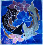 Yin Yang Koi Fish Mosaic