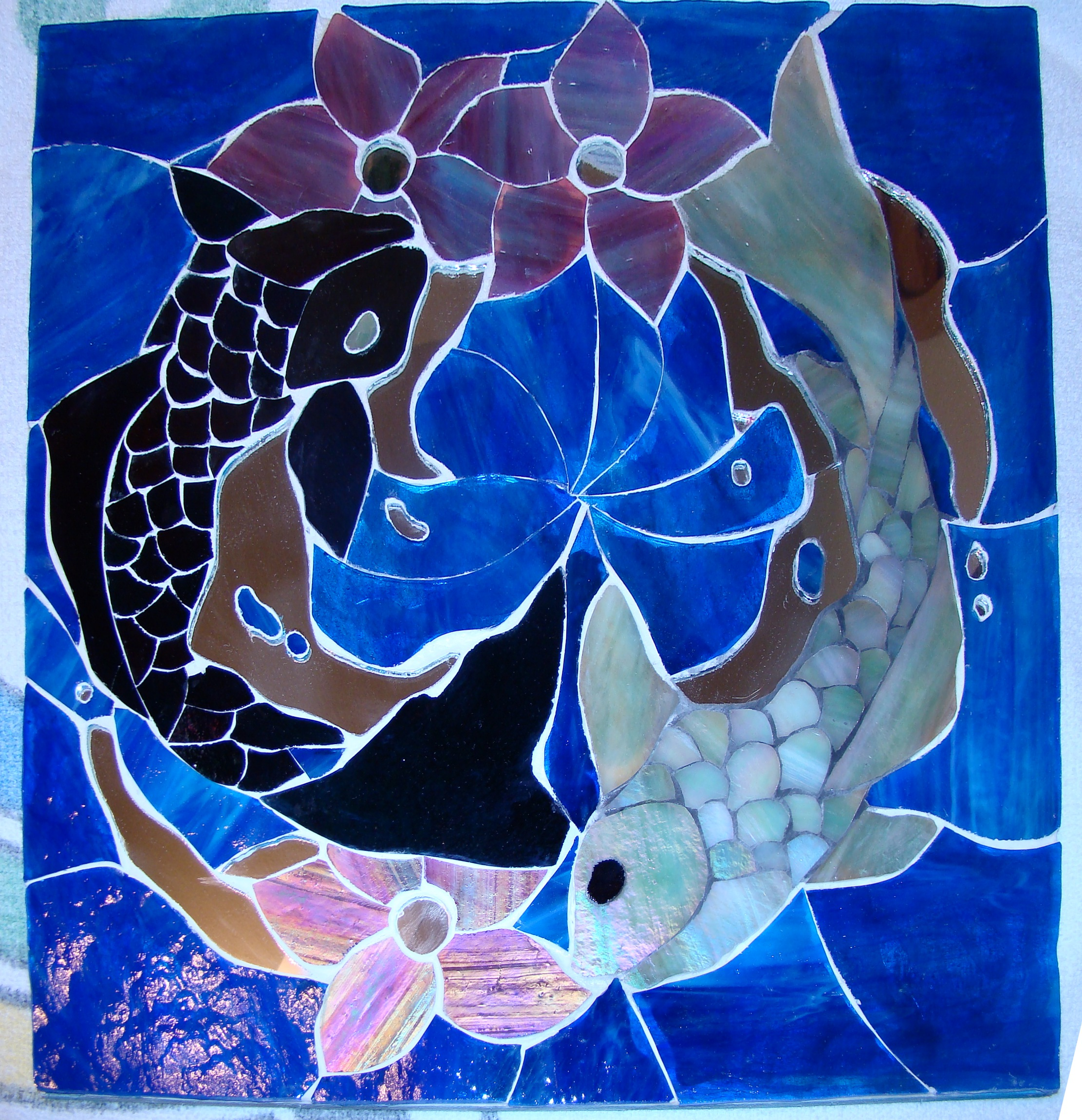Yin yang koi fish mosaic by leinani1992 on deviantart for Yin and yang koi fish