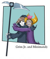 Grim jr. and Minimandy by kevinsano