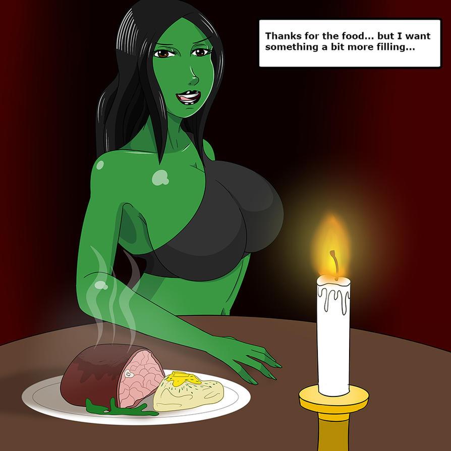 An odd date by Green-Glutton