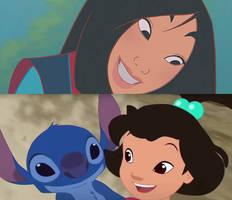 Mulan and Stitch and Ai