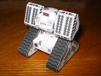 Papercraft Stalwart Tank by subatomicsushi