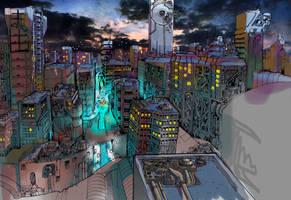 Cityscape by Velbette