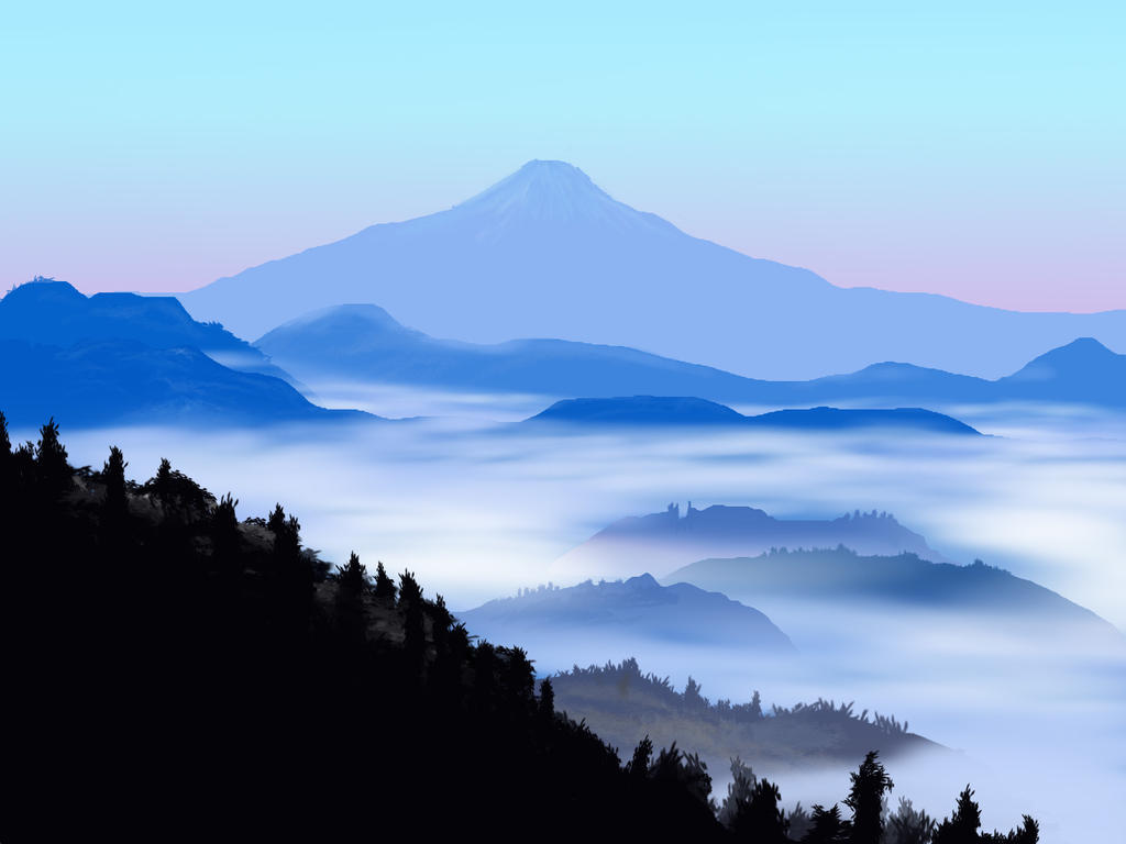 Mountain Landscape by Velbette