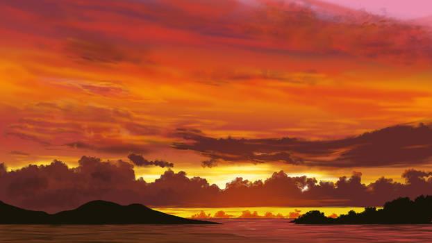 Sunset Enviroment by Velbette