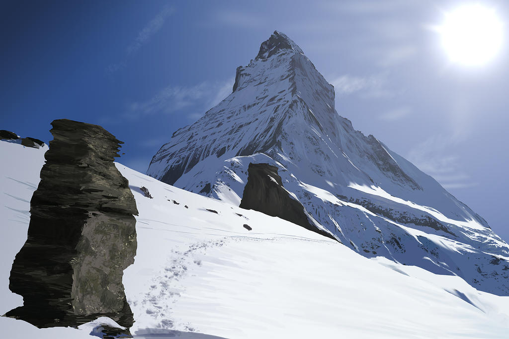 Mt Matterhorn Digital Painting