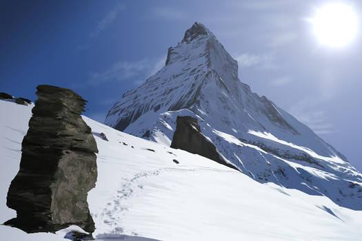 Mt Matterhorn Digital Painting by Velbette