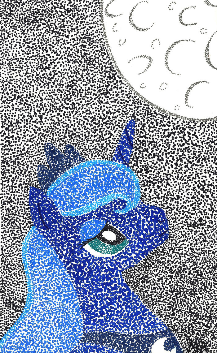Princess Luna Pointillism by Oceanblue-Art