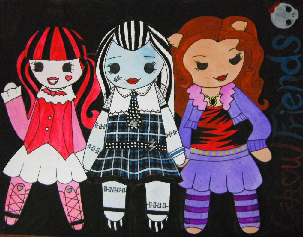 Monster High Chibis by Oceanblue-Art