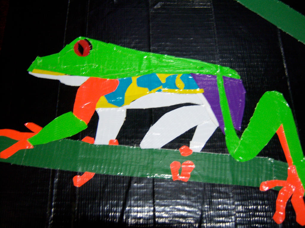 Ducttape Frog By Miblover334 by Oceanblue-Art