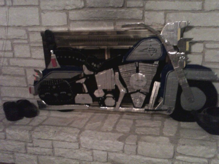 Harley Davidson Heritage Softail Ducttape Edition  by Oceanblue-Art