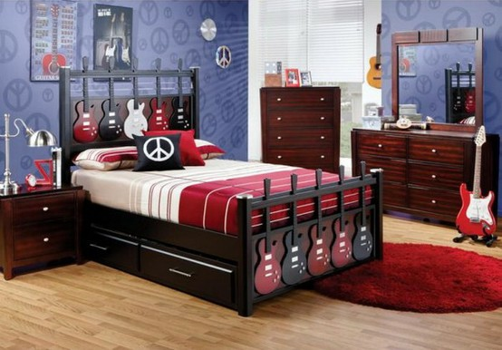 Boy Themed Bedrooms Hardwood Floors Planning Room  by Oceanblue-Art