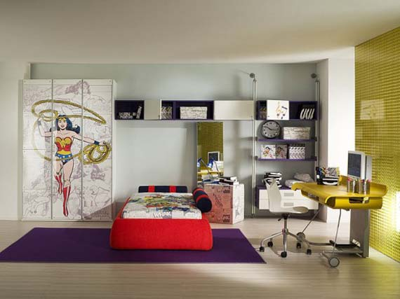 Best-Unique-Themes-Design-Modern-Kids-Bedroom-Home by Oceanblue-Art