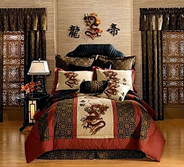 Japanese-Decorating-Ideas-Bedroom by Oceanblue-Art
