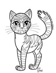 Free Kitty Coloring Page by Oceanblue-Art