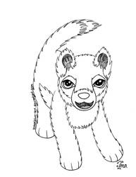 Free Wolf Pup Coloring Page by Oceanblue-Art