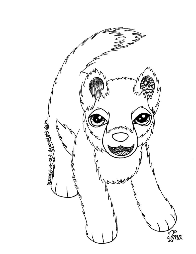 Free Wolf Pup Coloring Page by Oceanblue-Art on DeviantArt