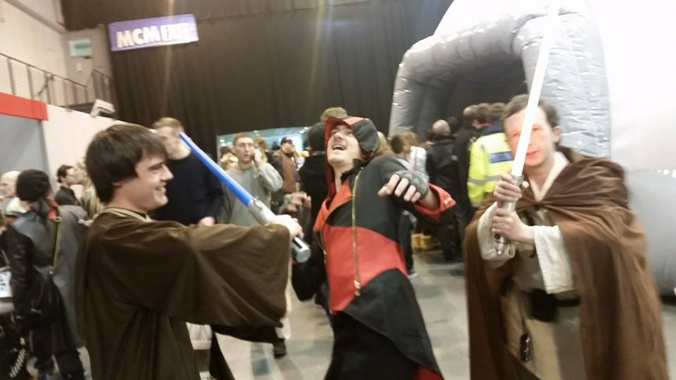 Caught between a jedi and a lightsaber by mikey900