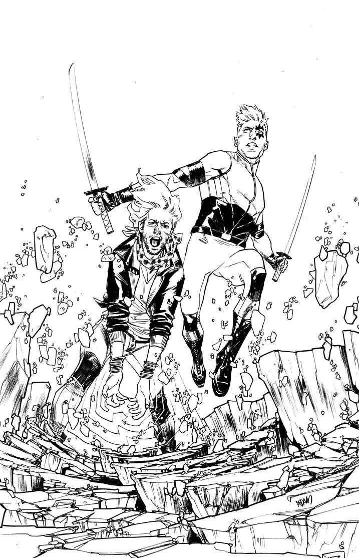 Rictor and Shatterstar by ADAMshoots