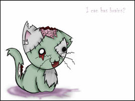 Zombie Kitty is a Zombie by Echidna-kid
