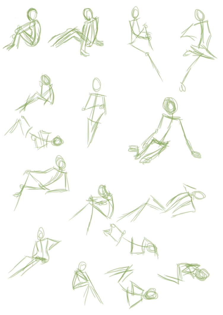 Pose Sheet 2 by goldendragonqueen32