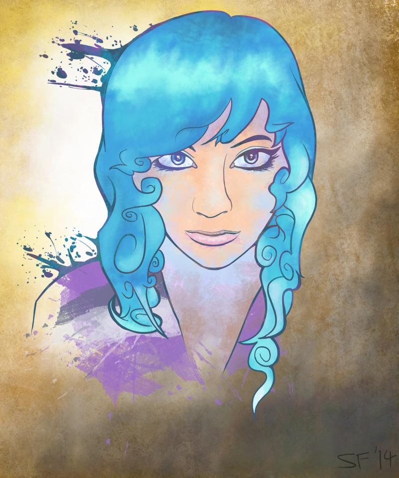 Blue Hair by SamuriFerret