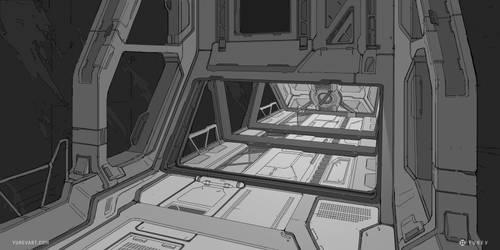 Sci-Fi Sketch by YurevArt