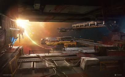Cybernation - Spacedock by YurevArt
