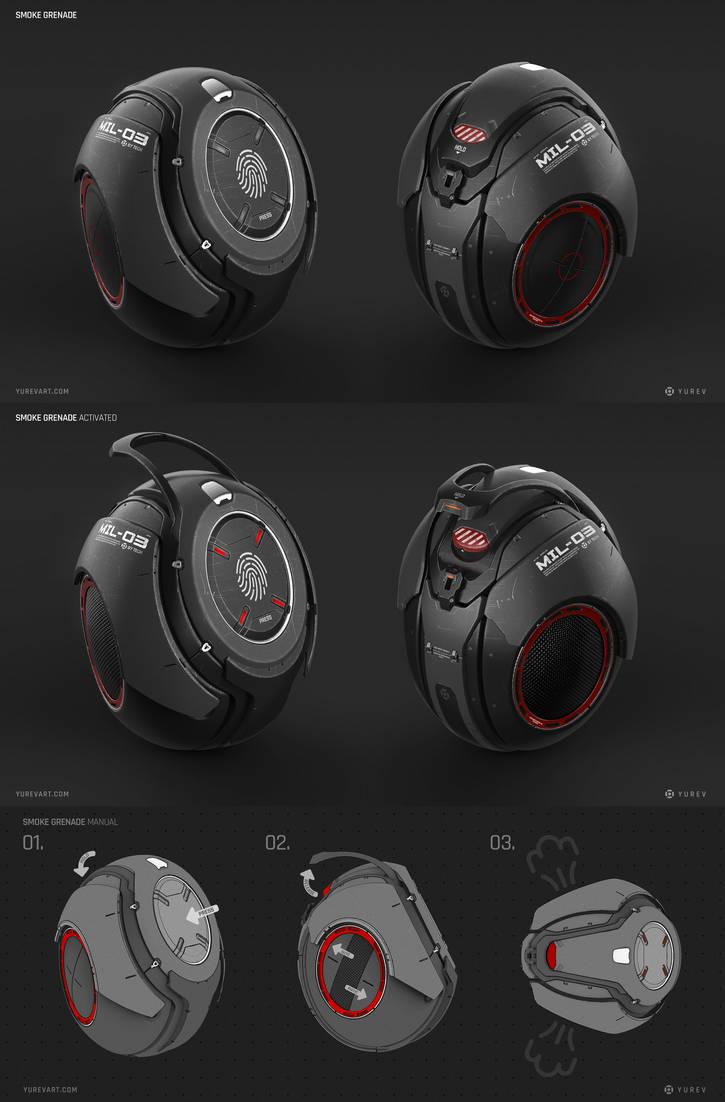 Smoke Grenade Concept by YurevArt