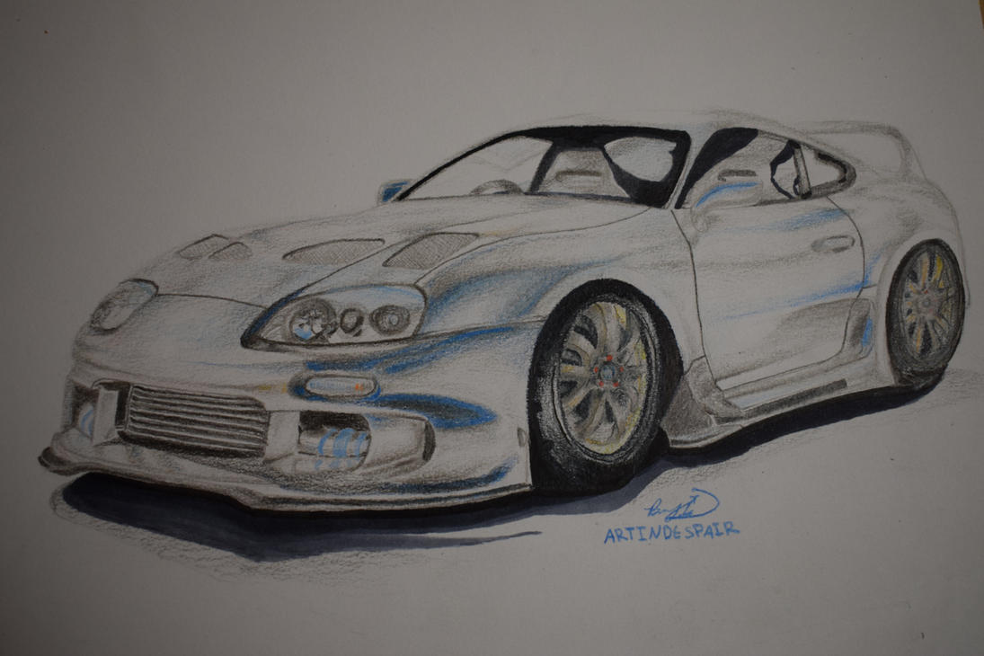 Toyota Supra Mk4 Time Lapse drawing by Seigman-Alice on DeviantArt