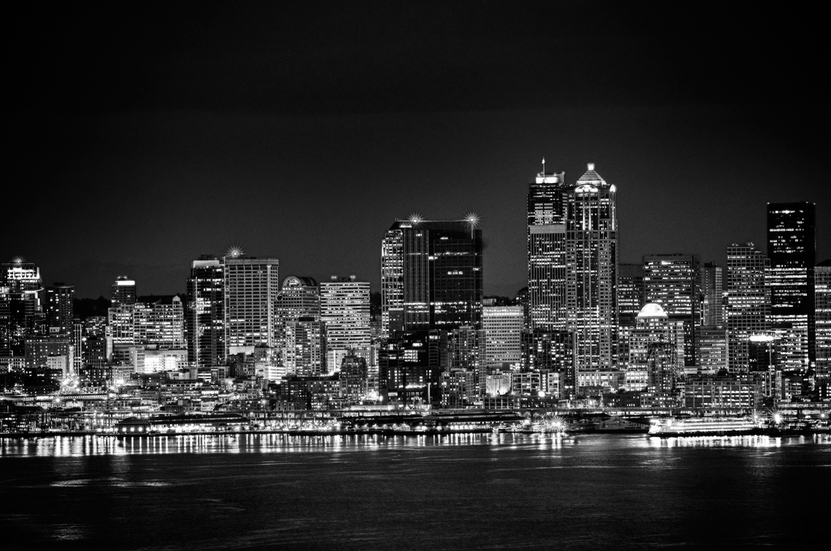 city skyline black and white - photo #1