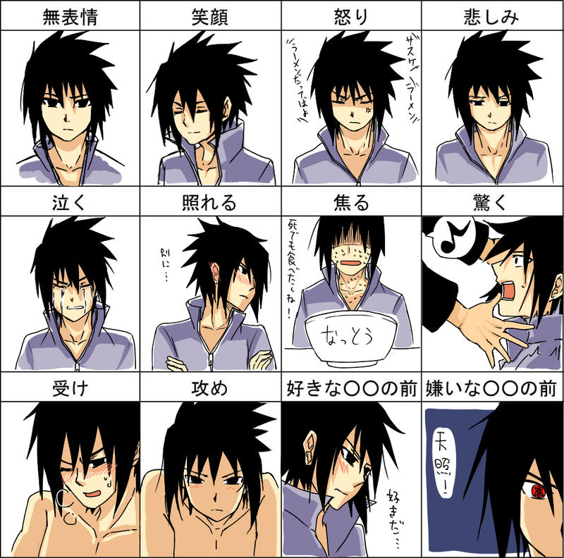Sasuke 12 emotion by AmanoChio