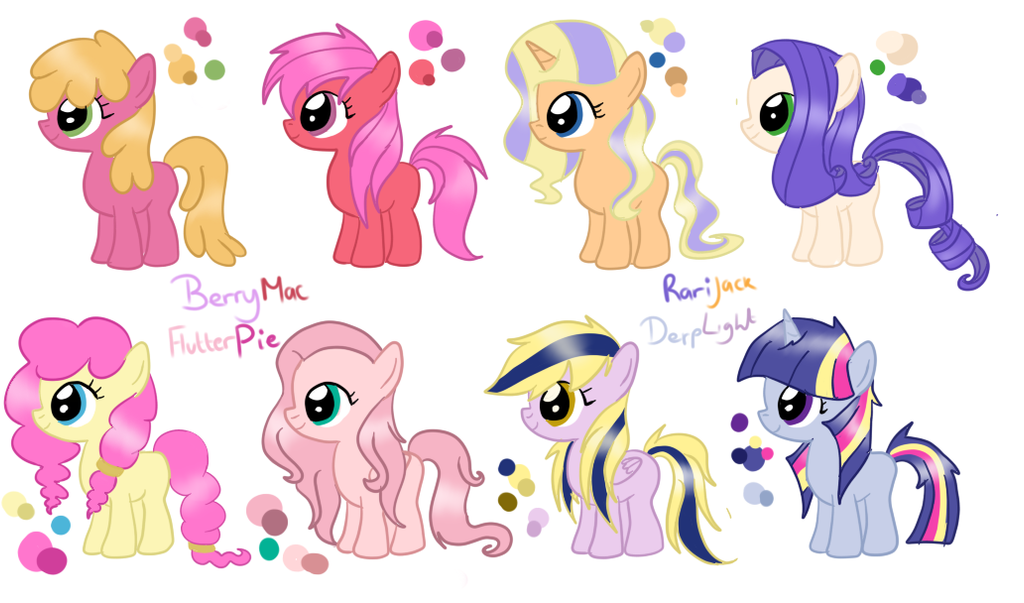 Shipping Foals By Cookiedreamadopts Baby Flurry Heart Child